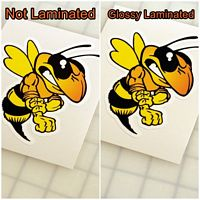 Laminated decal vs. Non-laminated decal