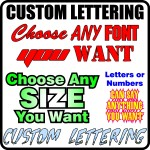 Custom lettering decal quote