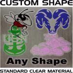 Low volume digitally printed clear decals