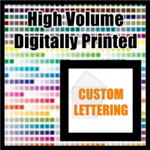 Custom printed custom lettering decal quote