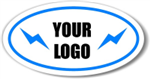 Oval spot color custom decal quote