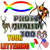 Multi-color custom decal / sticker quote