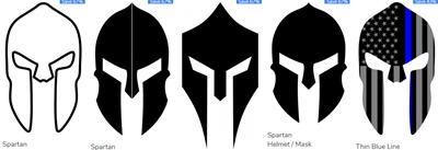 Gladiator Helmet Decals Stickers