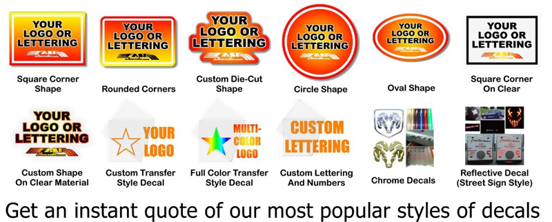 Instant custom decal quote