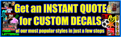 Get an instant decal quote