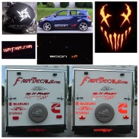 Custom reflective decal / sticker quote