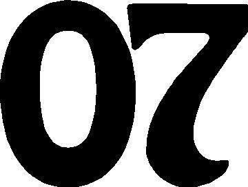 07 >> 07 Race Number Homeward Bound Font Decal Sticker