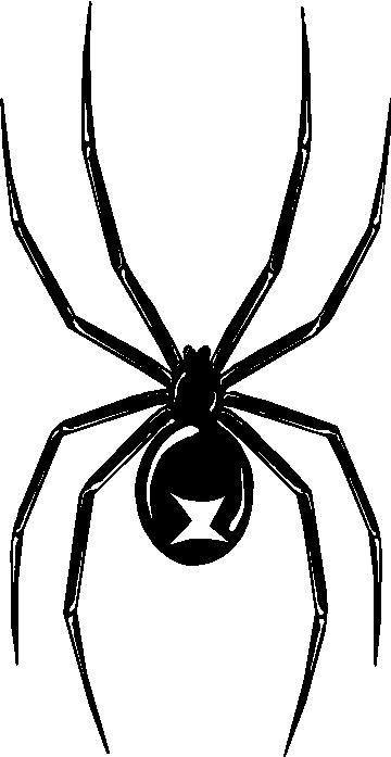 Black Widow Decal Sticker 01