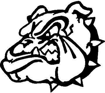 bulldog stencil bulldog decal sticker 06 6872