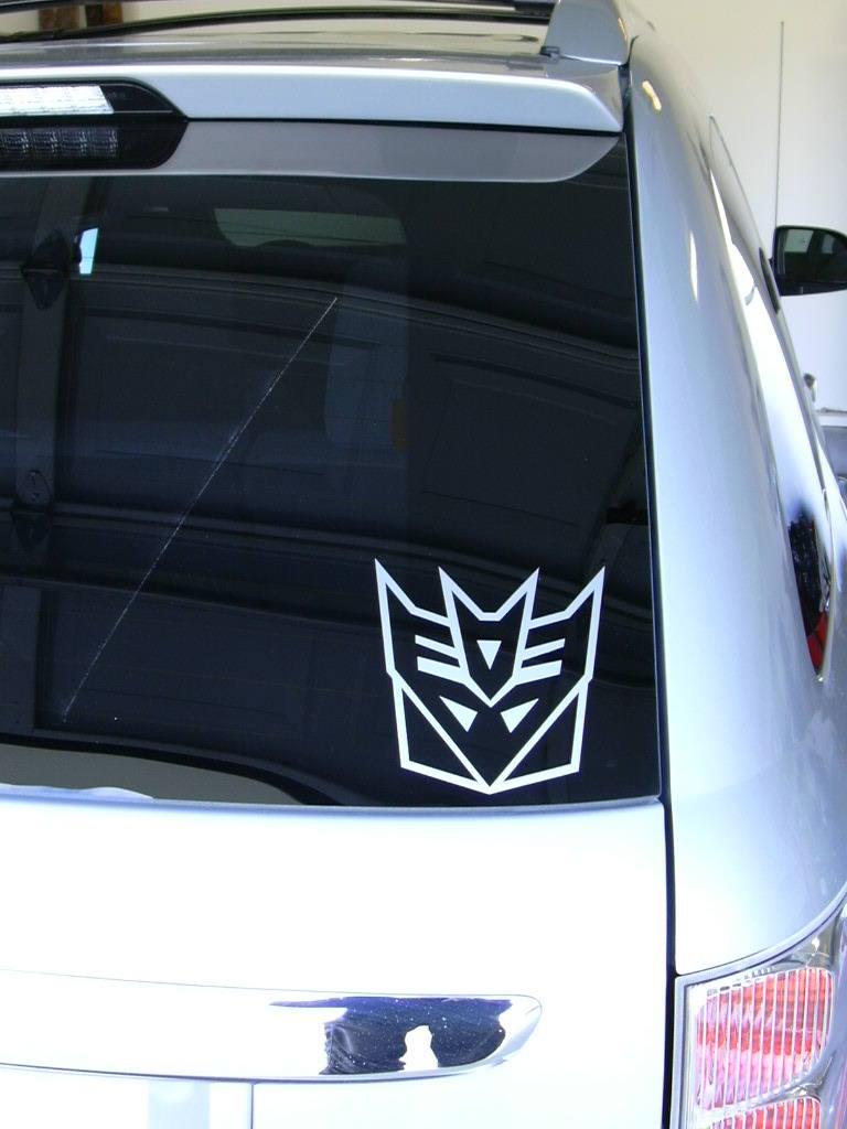 Decepticon Punish /& Enslave Transformers Custom Car Window Bumper Sticker Decals