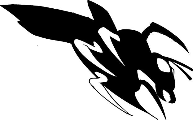 Hornet Yellow Jacket Bee Mascot Decal Sticker