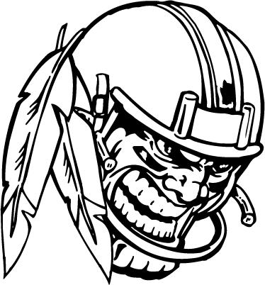 Football Helmet Braves / Indians / Chiefs Mascot Decal