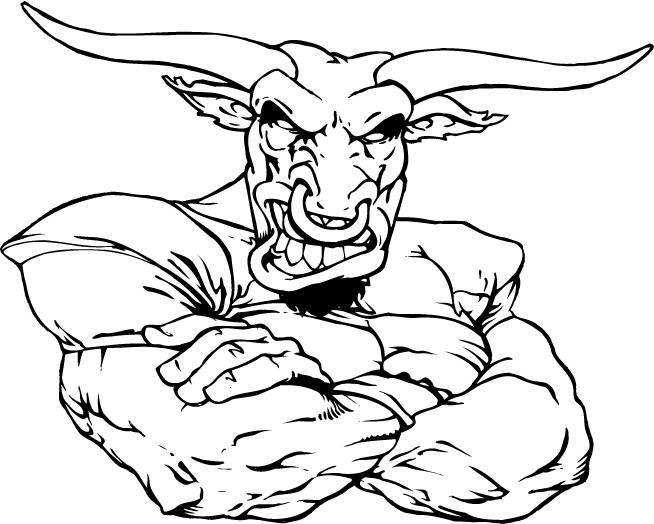 bull mascot decal sticker 01