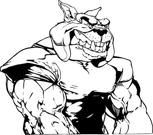 Bulldog Football Mascot