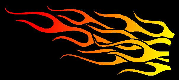 Yellow To Red Flames Decal Sticker 69