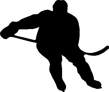 Hockey Player Decal Sticker Car Vinyl die cut no background pick size color