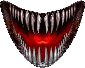 scary teeth and mouth decal sticker