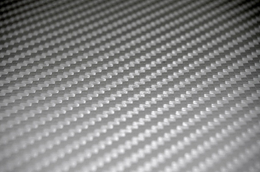 Silver Carbon Fiber Tile Covers 4 Inch