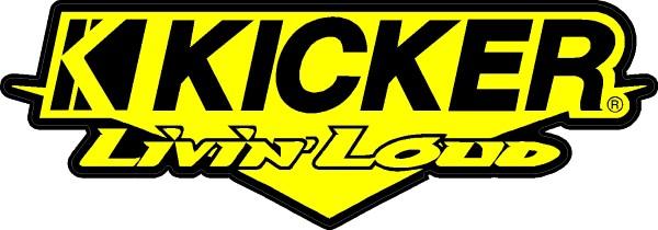 Kicker Livin/' Loud Car Audio Vinyl Decal car truck window laptop mirror sticker