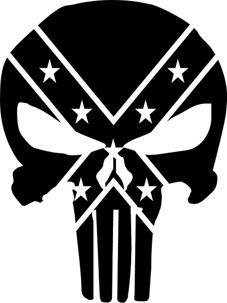 free rebel flag coloring pages | CONFEDERATE REBEL FLAG PUNISHER DECAL / STICKER 38