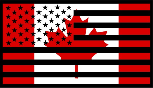 american canadian flag decal sticker