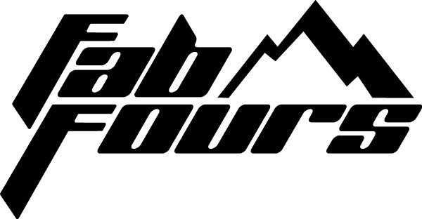 Fab Fours Black//Clear Sticker Decal