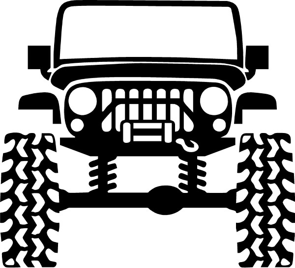Jeep Vehicle Outline Decal Sticker 01