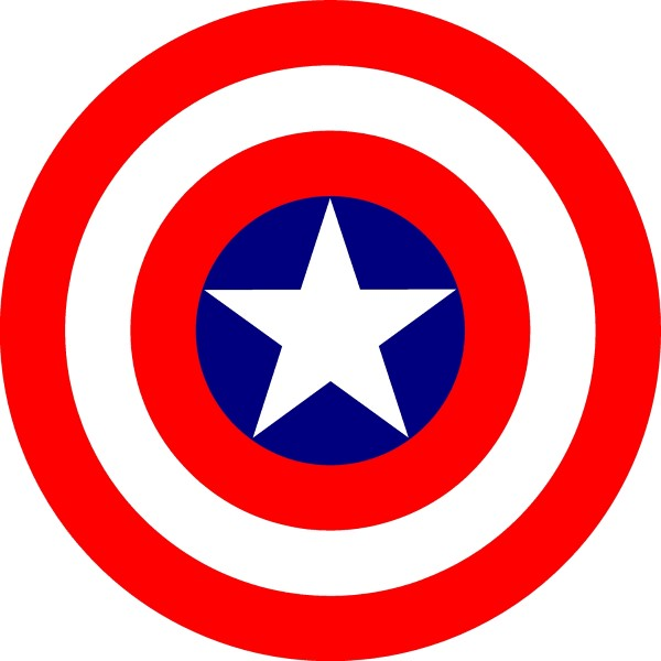CAPTAIN AMERICA SHIELD DECAL / STICKER 04