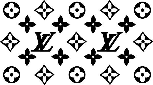 Louis Vuitton Pattern Decal Sticker 06