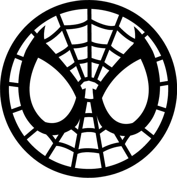 Spiderman Face Decal Sticker 10