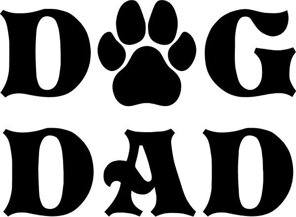 Removable Dog Dad Decal SterlingDesignsShop