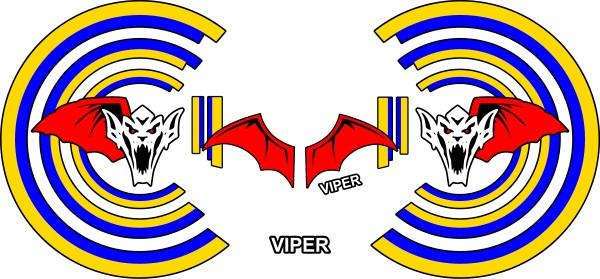 Top Gun Viper Helmet Decal Sticker Set 01
