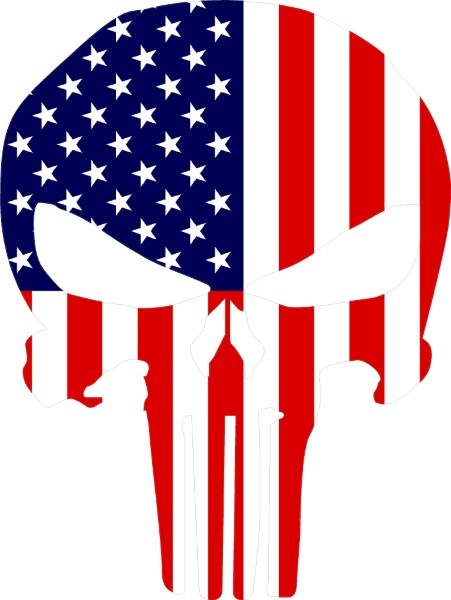 American Flag Punisher Decal