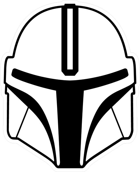 The Mandalorian Helmet Vinyl Decal Sticker