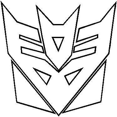Transformers Decepticon Outline Decal Sticker