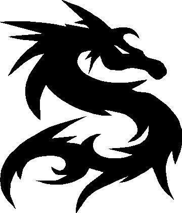 Tribal Dragon Decal Sticker