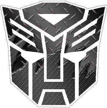 Transformers Autobot Black Carbon Plate 3 Decal Sticker