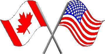 american and canadian flag decal sticker