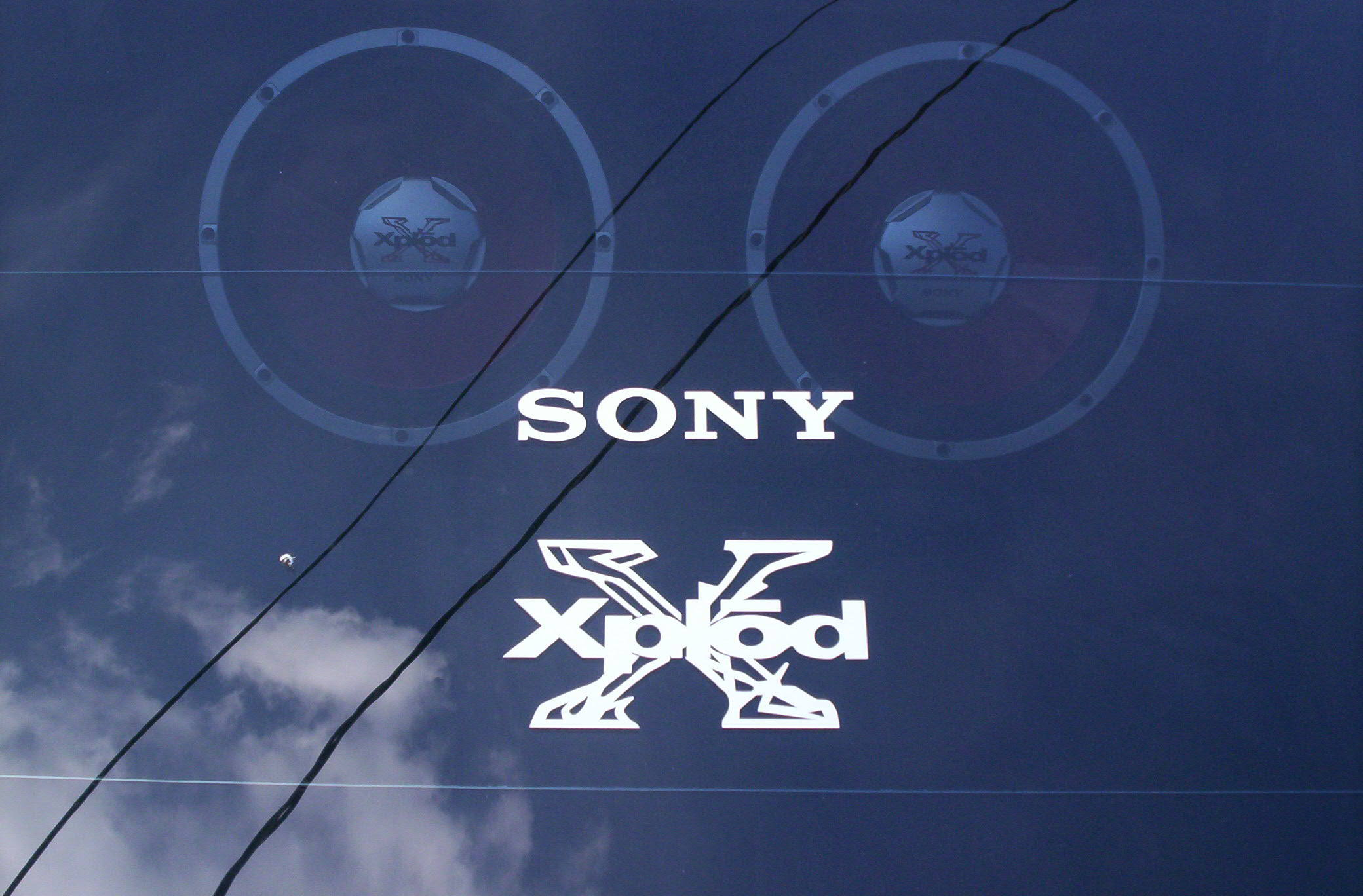 Sony xplod decal sticker