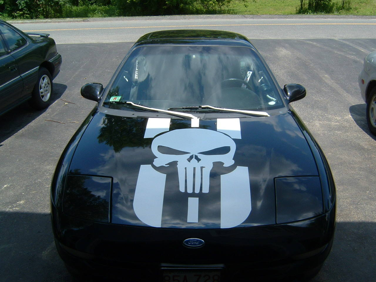 Car hood punisher decal
