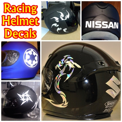 Motorcycle Helmet Decals
