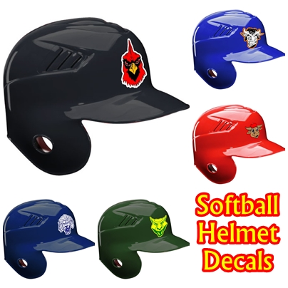 Softball Helmte Decals