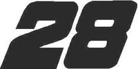 28 - Race Number Decal / Sticker SOLID
