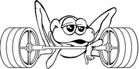 Weightlifting Frog Mascot Decal / Sticker