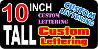 z2 Custom Lettering 10 Inch Tall Decal / Sticker