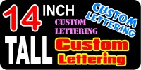 z2 Custom Lettering 14 Inch Tall Decal / Sticker