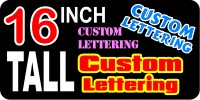 z2 Custom Lettering 16 Inch Tall Decal / Sticker