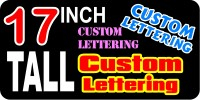 z2 Custom Lettering 17 Inch Tall Decal / Sticker