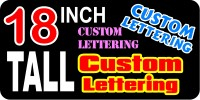 z2 Custom Lettering 18 Inch Tall Decal / Sticker