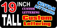 z2 Custom Lettering 19 Inch Tall Decal / Sticker